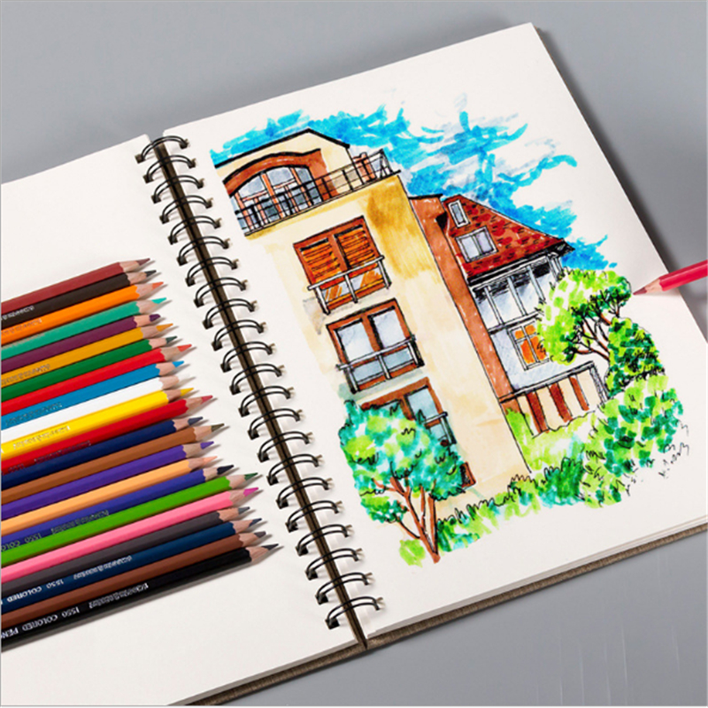 A4 Cloth Cover Sketchbook Diary For Drawing Painting Graffiti Paper Sketch Book Memo Pad Notebook Office School Supplies