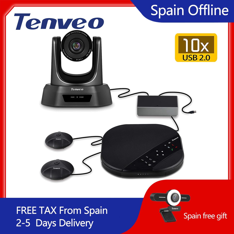 Tenveo va3000e 2mp 10x zoom solução de vídeo conferência de áudio sistema de videoconferência grupo speakerphone e hub para transmissão-0
