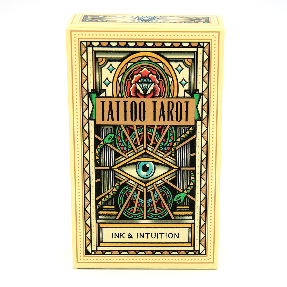 Tattoo Tarot Ink & Intuition Cards Beautifully Illustrated Fully Functional Set Of 78 Tarot Cards Featuring Vintage Tattoo Deck