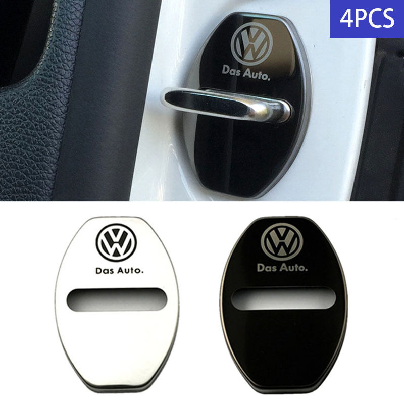 2020 Car Door Lock Protection Cover VW Stainless Steel Auto Parts For Volkswagen Golf Polo Jetta Bora Beetle Touran Passat CC