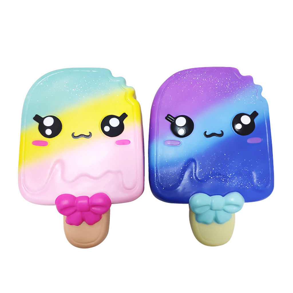 Cute Exquisite Squishies Cartoon Ice Sucker Scented Slow Rising Stress Reliever Toy Popsicle Slow Rebound Children Toy Gift L106
