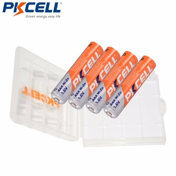16pcs 8aa 8pcaaa 1 6v aa 2500mwh rechargeable battery nizn ni zn rechargeable battery 4 slots aa aaa nimh nizn smart charger 4Pcs PKCELL AAA battery 900mWh 1.6V Ni-Zn AAA Rechargeable Batteries AAA nizn battery +1Pcs Battery Case for AA AAA Battery
