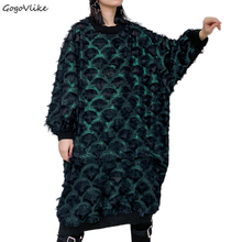 Plus Size Lace Dress Fall New Women's Casual Dresses Green T