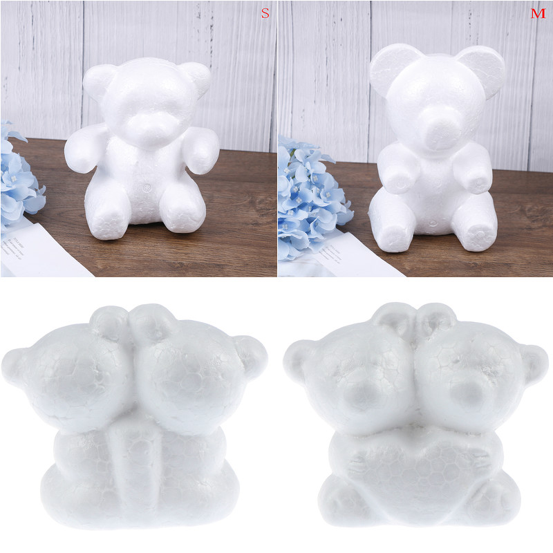 1PCS Modelling Polystyrene Foam Bear White Craft Balls For DIY Christmas Party Decoration Supplies Gifts