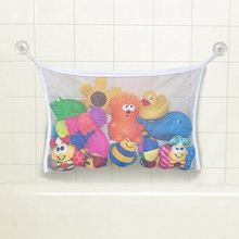 1pc 2 Size Children's Utility Baby Bath Time Toy Storage Suction Bag Mesh Net Bathroom Organiser Water Toy Bag For Baby Kids