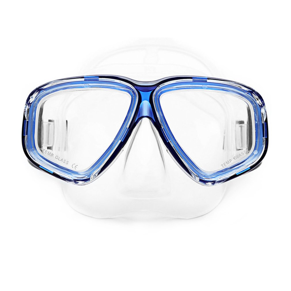 AM-308 Adult Double Layer Waterproof Anti-fog Transparent Silicone Large Area Diving Mask Goggles Swimming Accessories