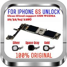 Pour iphone 6S carte mère avec puces complètes, débloqué pour les cartes mères iphone 6s sans/avec identification tactile de 16gb / 64gb / 128gb