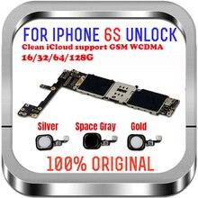 풀 칩이있는 iphone 6S 마더 보드 용, 16gb / 64gb / 128gb 터치 id가없는 iphone 6s 로직 보드 용 잠금 해제