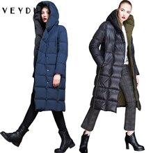 Veydu, зимний пуховик для женщин, длинное белое пуховое пальто, ветронепроницаемый пуховик, новая мода, с капюшоном, Толстая теплая женская одежда