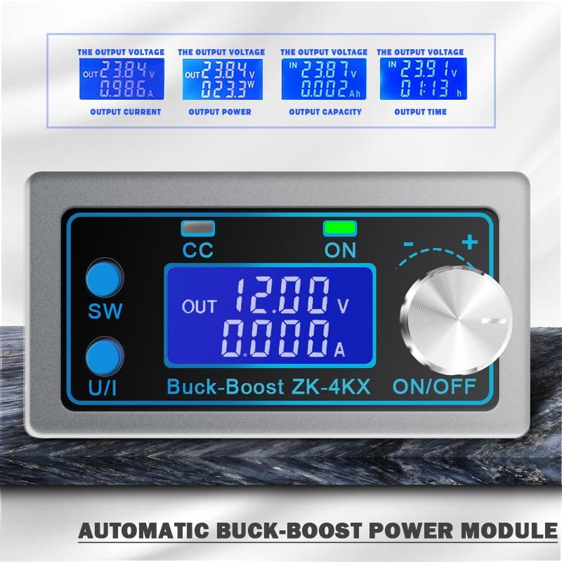 ZK-4KX постоянного/переменного тока, Buck повышающий преобразователь постоянного тока CC CV 0,5-30V 4A 5V 6 в, 12 В, 24 В постоянного тока, модуль питания ре...