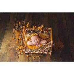 Nuevos accesorios de fotografía recién nacido, cesta de mimbre tejida Vintage para sesión de fotos de bebés, accesorios para estudio de portarretratos, juguetes para niños