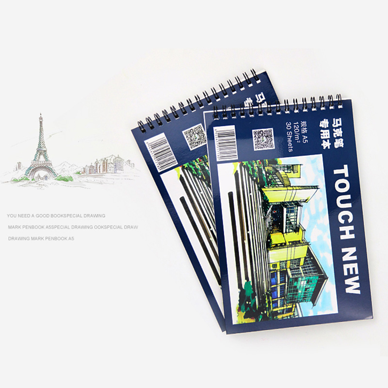 TOUCHNEW Proffessional Sketch Painting Marker Paper A5 Marker Pad 30 Sheets No Penetration Paper Drawing Album For Art Supplies