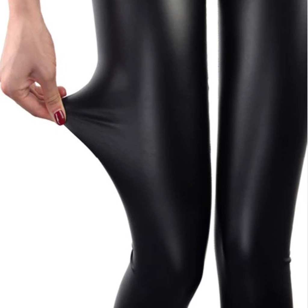2020 Autumn Pu Faux Leather Leggings Women 4 Colors Skinny Pants Female Korean Slim Ladies Plus Size Slim Pencil Leggins