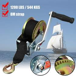 111200LBS 8M Boat truck auto portable hand manual winch with webbing sling, hand tool lifting sling