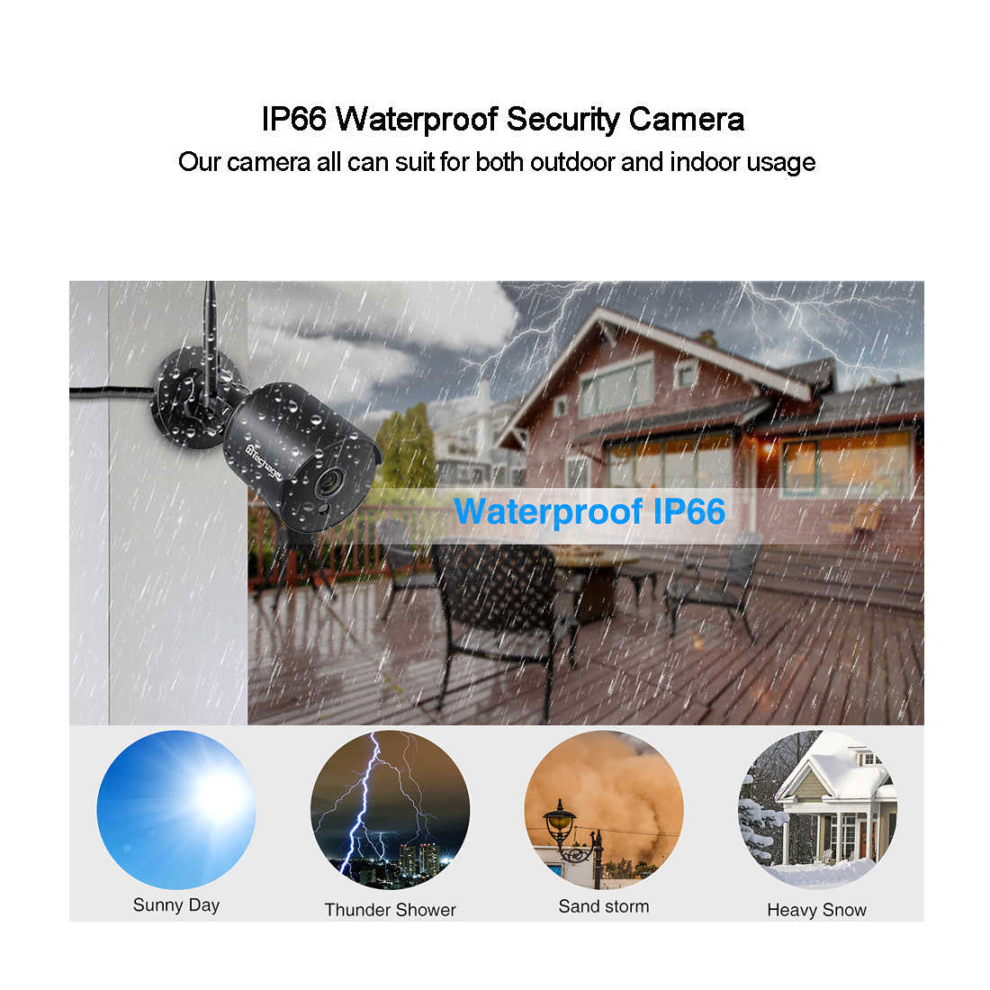 Techage Wifi Ip Camera Outdoor 1080P Waterdichte 2.0MP Draadloze Beveiliging Camera Two Way Audio Tf Card Record Onvif Surveillance