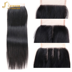 Image 4 - Joedir mèches de cheveux non remy brésiliennes lisses, pré colorées, avec Closure, lot de 3, livraison gratuite