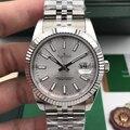 De luxo Da Marca Dos Homens Novos Relógios Datejust de Aço Inoxidável Mecânico Automático Relógio Vidro de Safira Azul Preto Cinza 41mm AAA +