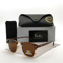 New fashion men's polarized sunglasses, fashionable rice nails, decorative metal half-frame dazzling Sunglasses цены