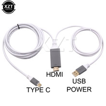 USB-C 3,1 Type C к HDMI TV HDTV кабель HD 4K DMI конвертер АДАПТЕРНЫЕ Кабели USB кабель для iPhone HDTV TV цифровой AV