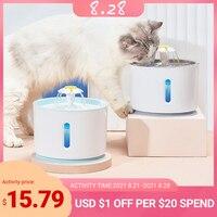 Pet Wasser Brunnen Hund Katze Elektrische Automatische Wasser Feeder Dispenser Container LED Wasser Ebene Display Für Hunde Katzen Trinken