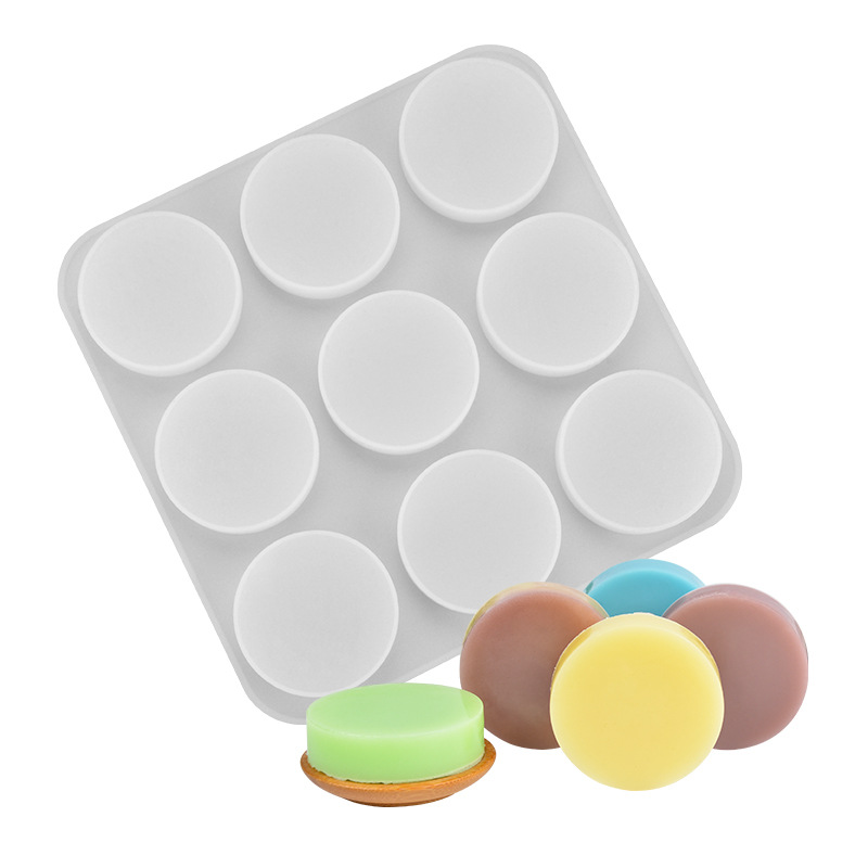 9-Cavity Silicone Soap Mold DIY Handmade Lotion Shampoo Bar Mold for Candle Resin Bread Cheesecake Jelly Pudding Muffin