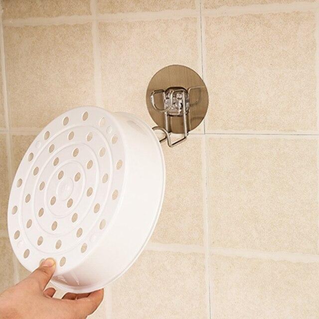 1 шт. нержавеющая сталь стойка для умывальника, экономия пространства, настенные крючки для ванной комнаты, стеллажи для хранения, Прямая поставка