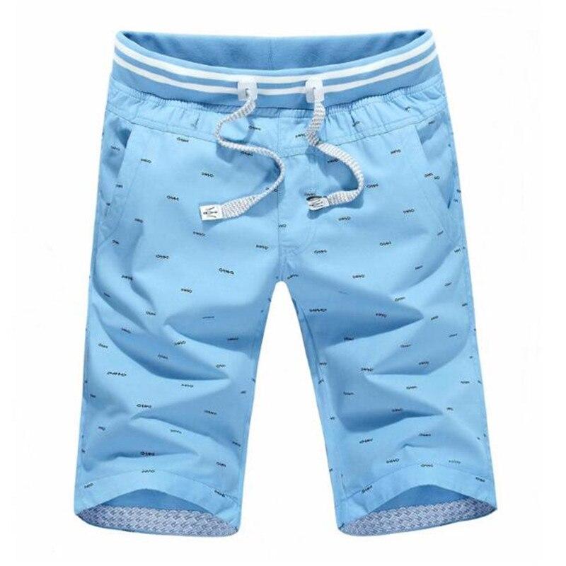 Shorts Men Clothing Slim-Fit Four-Colors Cotton Summer Brand New LJ379 Size-L-4xl High-Quality