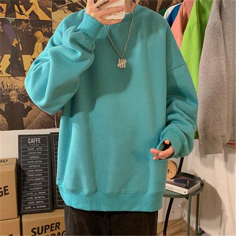 H88ee81c60e4043cf8f94297676b3e9daZ loose Korean style plus size sweatshirt winter clothes streetwear women 2020 new fashion plus velvet oversize harajuku hoodie