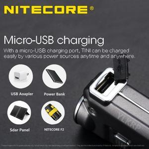 Image 4 - 2018 nowy Nitecore TINI 380 lumenów micro usb charging Mini metaliczny breloczek latarka