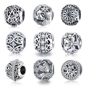WOSTU Hot Sale Style 100% 925 Sterling Silver Vintage Openwork Beads Fit Original Charm Bracelet Women Pendant Fashion Jewelry(China)