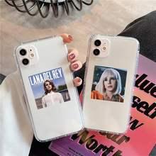 Custodia per telefono Lana Del Rey trasparente per iPhone 11 12 mini pro XS MAX 8 7 6 6S Plus X 5s SE 2020 XR