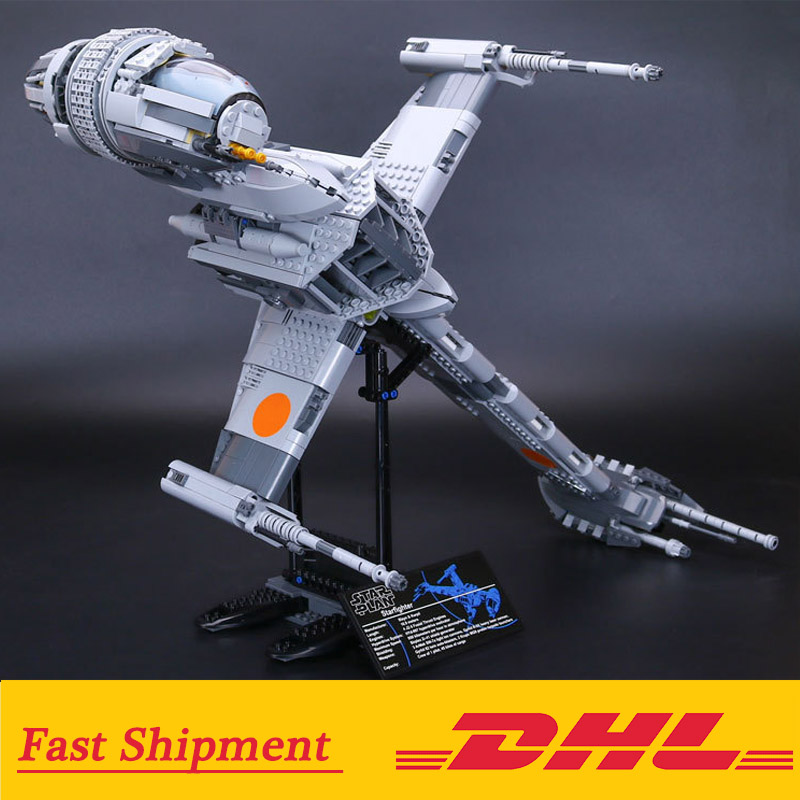 05045 Star Wars Series The B-wing Star fighter Mobile Building Block 1487Pcs Bricks Compatible With Lego Star Wars 10277 1