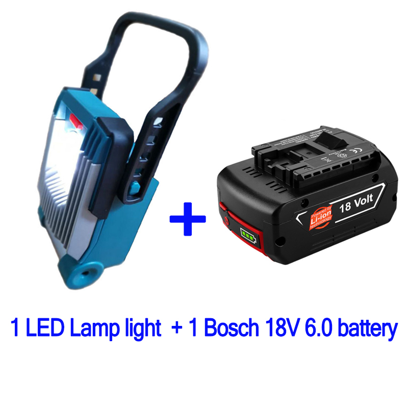 For DeWalt Makita Milwaukee <font><b>Bosch</b></font> <font><b>18V</b></font> 20V Li-ion <font><b>Battery</b></font> Electric Tool Part Home Decoration Construction LED Working Lamp Light image