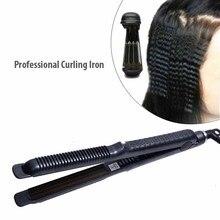 Professional Curling Iron Curler Hair Blank Tongs Corrugated Iron Corrugation Wa