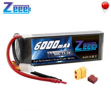 Zeee 11.1V Lipo Battery RC Car 6000mAh 3S Rechargeable Drone FPV 60C with Deans Plug XT60 for Truck Heli