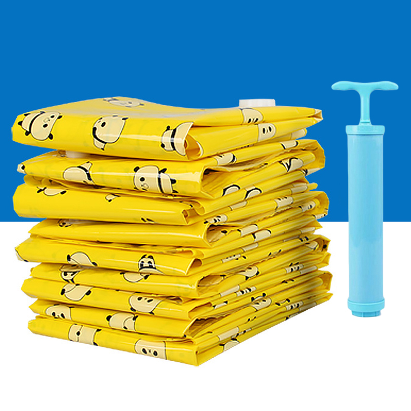Vacuum Storage Bag Foldable Compressed Clothing Organizer Moisture Dust-proof 70*50cm / 60*80cm / 90*70cm / 100*80cm image