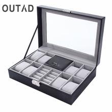 Смешанные сетки pu кожаный ящик для часов контейнер хранения