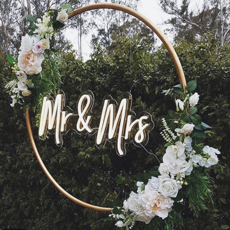 Mr  amp  Mrs Flex Led Custom Neon Sign Light Ins Wall Decor 12V 3D waterproof Outdoor Wedding party marriage decoration