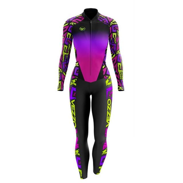 Vezzo ciclismo skinsuit terno primavera e no outono manga longa roupas de bicicleta feminino roupa de corrida conjunto 1
