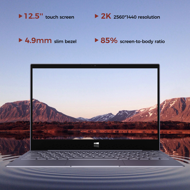XIDU Tour Pro 12.5 Inch Laptop 128GB ROM 8GB RAM Intel 3867U 8th Gen Fast Speed Processor for Business with Backlight keyboard