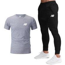 2021 yeni yaz erkek spor elbise baskılı nefes tişört + spor pantolon iki parçalı erkek basket topu eğitim takım elbise