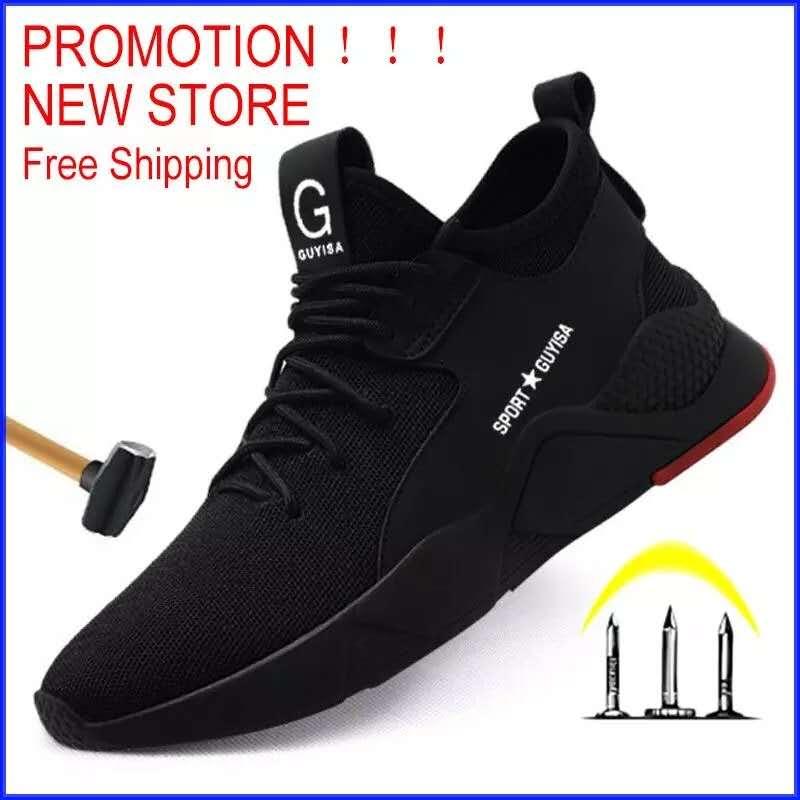 Envío Gratis botas de seguridad para el trabajo zapatos de seguridad de punta de acero para hombres zapatillas de deporte al aire libre a prueba de perforaciones zapatos de hombre Zapatos indómibles Ryder