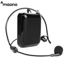 MAONO Voice Amplifier Portable Professional Teacher Microphone with FM Repeat and Music Player Function for Coaches Tour Guides