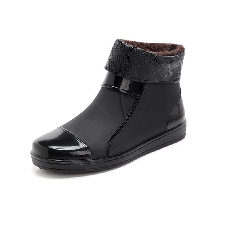 Rain Boots Men's Fashion Short Tube Non-slip Wear-resistant Rubber Shoes Waterproof Overshoes Kitchen Waterproof Work Shoes
