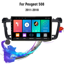 Eastereggs For peugeot 508 2011 2018 2 Din Android  Car Radio GPS Multimedia Player Navigation GPS FM Head Unit With Frame
