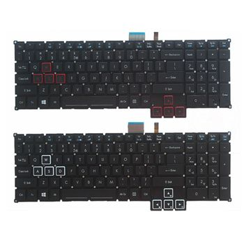 GZEELE New for Acer Predator 17X GX-791 GX-792 US Keyboard Color backlit