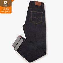 2 cor original youpin mijia dmn clássico vermelho jeans 100% algodão casual confortável jeans masculinos casa inteligente