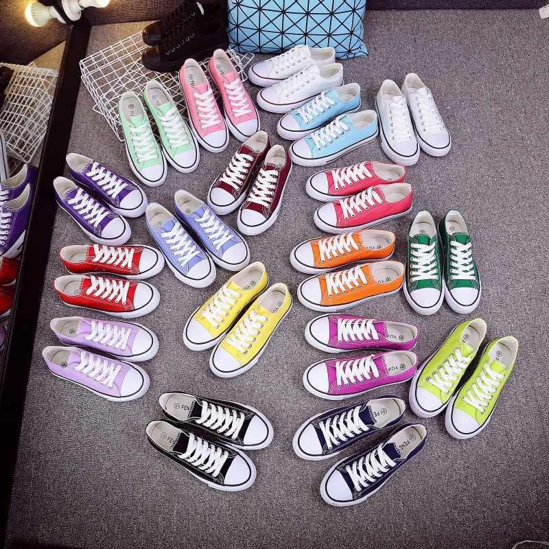 Unisex Delle Donne di Scarpe di Tela Degli Amanti scarpe Da Ginnastica Comode Vulcanize casual Chaussure Signore Lace-up scarpe Da Ginnastica Calzature