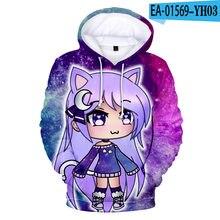 Popular jogo gacha vida hoodie moletom com capuz masculino/feminino unisex 3d moda streetwear meninos/meninas manga longa gacha vida topos
