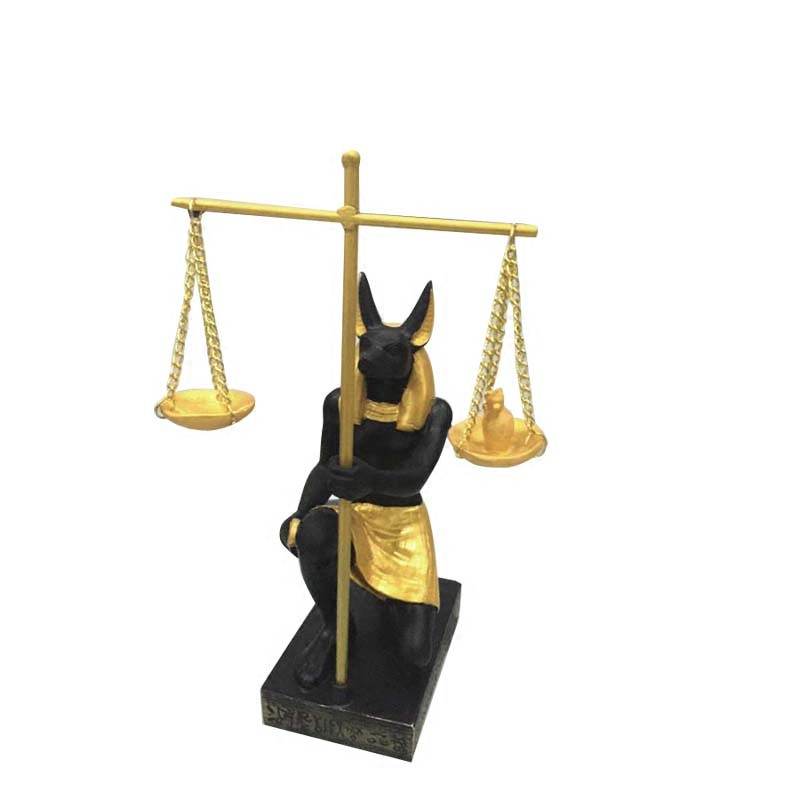 Ancient Egypt Balance Judge Anubis God Statue Resin Crafts Figure Dog God Art Sculpture Home Desktop Decoration Souvenirs R2924